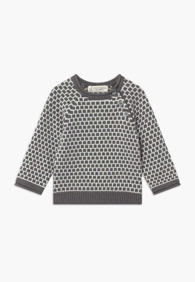 BABY - Strikkegenser - dark grey /ivory