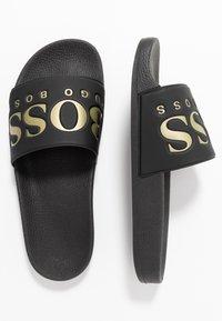 BOSS - SOLAR SLID LOGO - Pantolette flach - black - 1