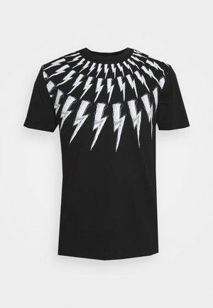 SCRIBBLE FAIR  ISLE THUNDERBOLT  - T-shirt imprimé - black/white