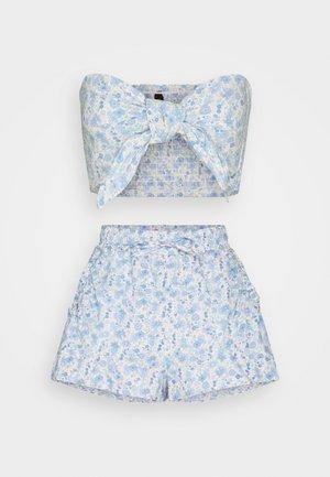 BEACH TIE SHIRRED SET - Beach accessory - blue