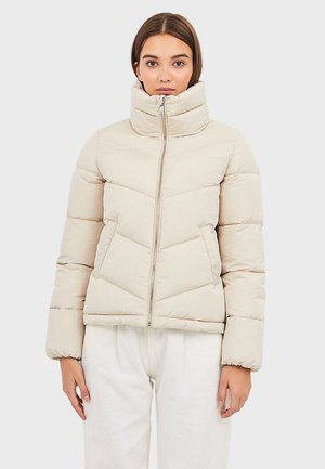 MIT ROLLKRAGEN - Winter jacket - beige