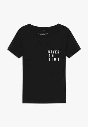 KIDS NEVER ON TIME - Triko s potiskem - black