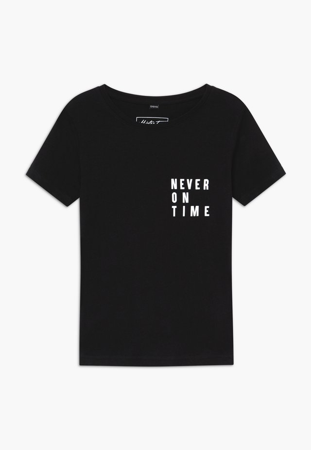 KIDS NEVER ON TIME - T-shirts med print - black