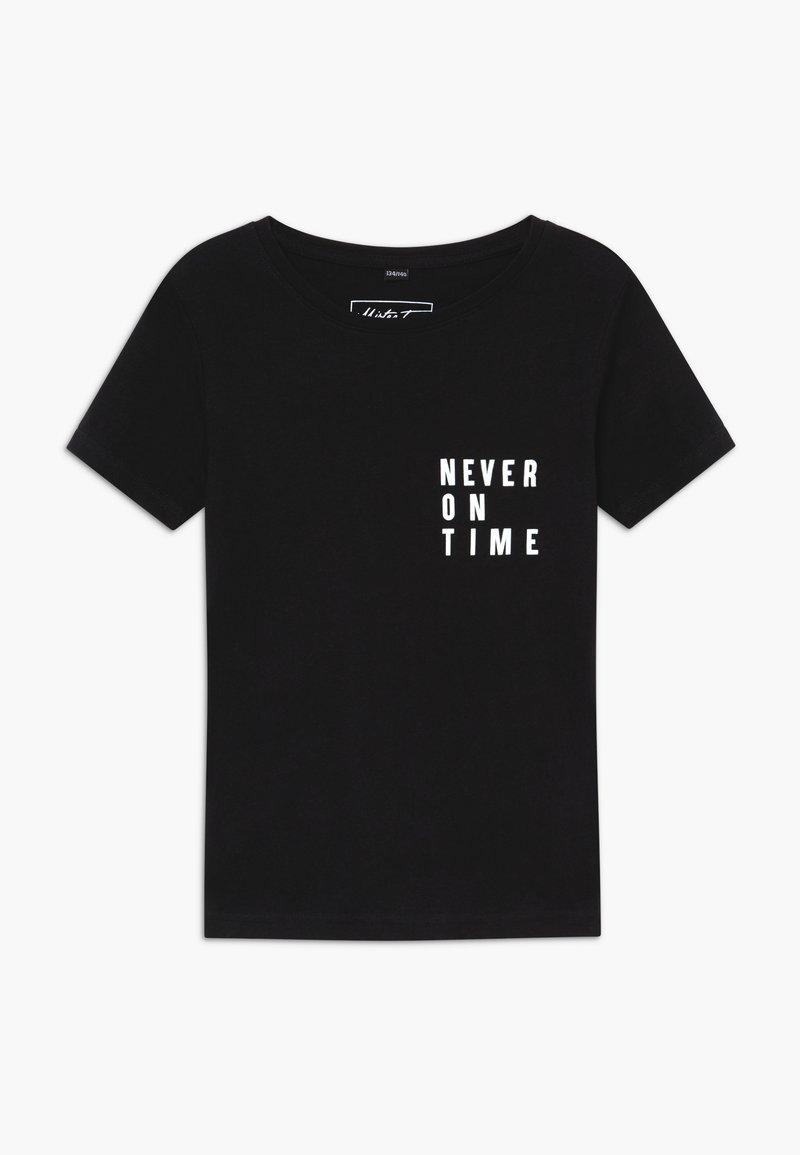 Mister Tee - KIDS NEVER ON TIME - Triko spotiskem - black