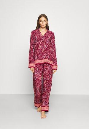 GIAVINA LONGSLEEVE LONG PANTS - Pyžamo - dark red