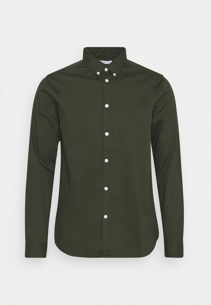 KnowledgeCotton Apparel - LARCH CASUAL FIT - Skjorta - forrest night