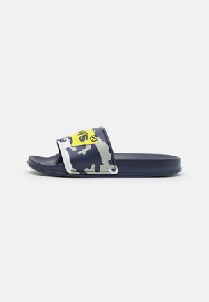 POOL UNISEX - Mules - navy/lime