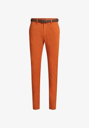 SKINNY FIT  - Pantalones chinos - rust brown