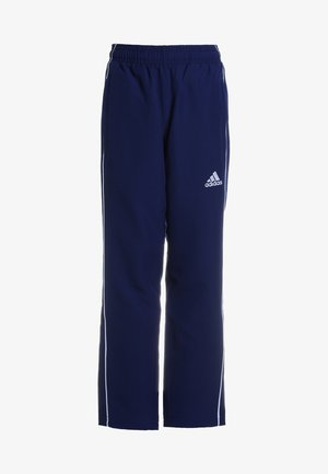 CORE - Tracksuit bottoms - darkblue/white