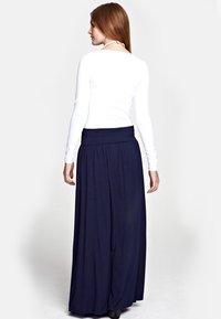 HotSquash - LUXURY - Maxi skirt - inky navy - 1