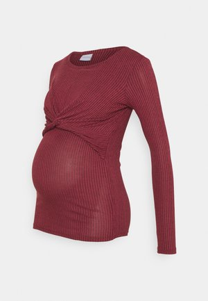 MLANLI JUNE - Long sleeved top - burnt russet melange