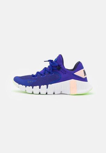 FREE METCON 4 - Zapatillas de entrenamiento - concord/blackened blue/crimson tint/lime glow/white