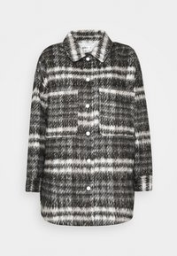 Missguided - BRUSHED CHECKED SHACKET - Classic coat - brown - 4