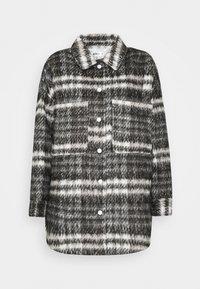 BRUSHED CHECKED SHACKET - Klasický kabát - brown