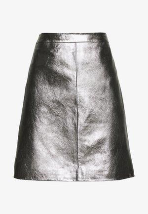 LOSARI - A-line skirt - metallic grey
