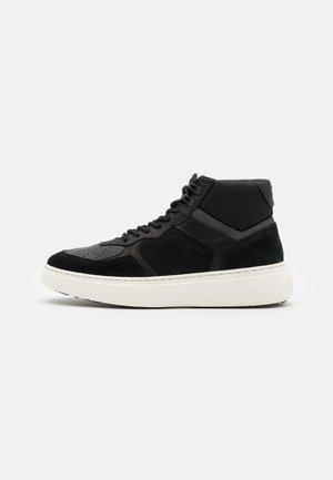 LASH MID - Höga sneakers - black/grey