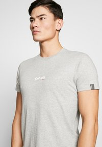 Schott - SMALL LOGO CENTRAL 2 PACK - Basic T-shirt - black /grey heather - 4