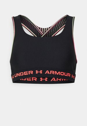 CROSSBACK MID - Medium support sports bra - black