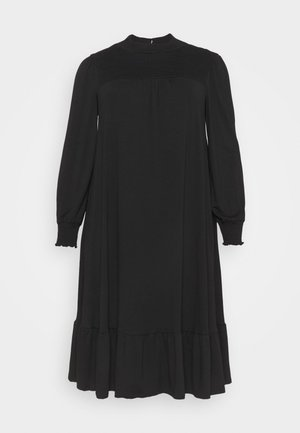 SHIRRED YOKE DRESS - Jerseykjole - black