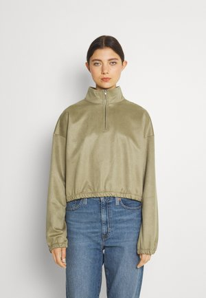 NMNORA HIGH NECK - Sweatshirt - aloe