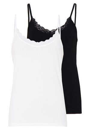 TRIM CAMI 2 PACK - Toppi - white/black