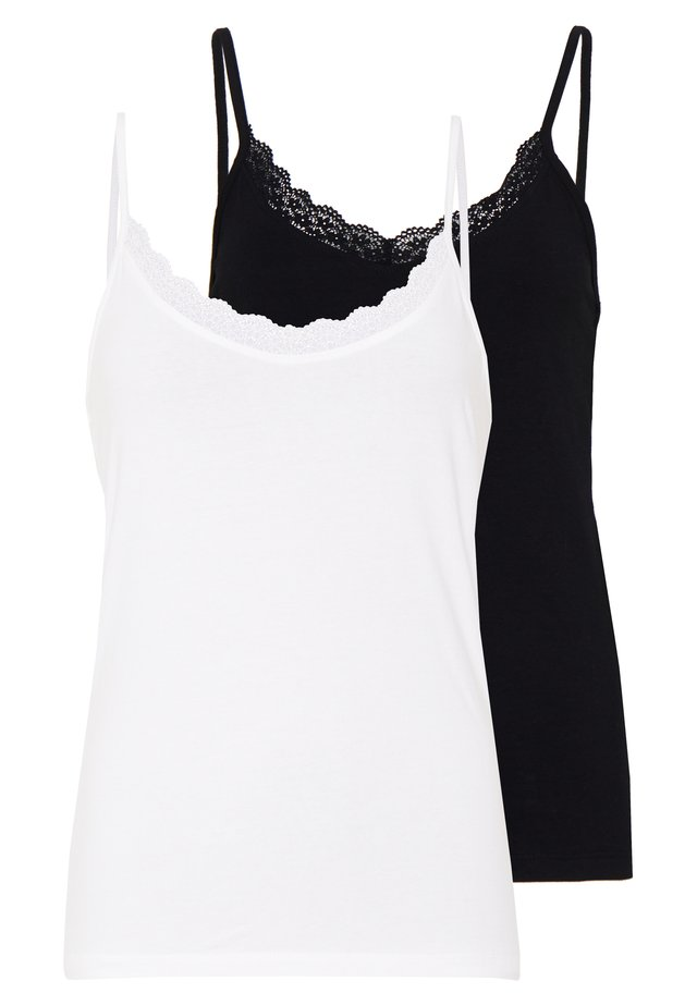 TRIM CAMI 2 PACK - Top - white/black