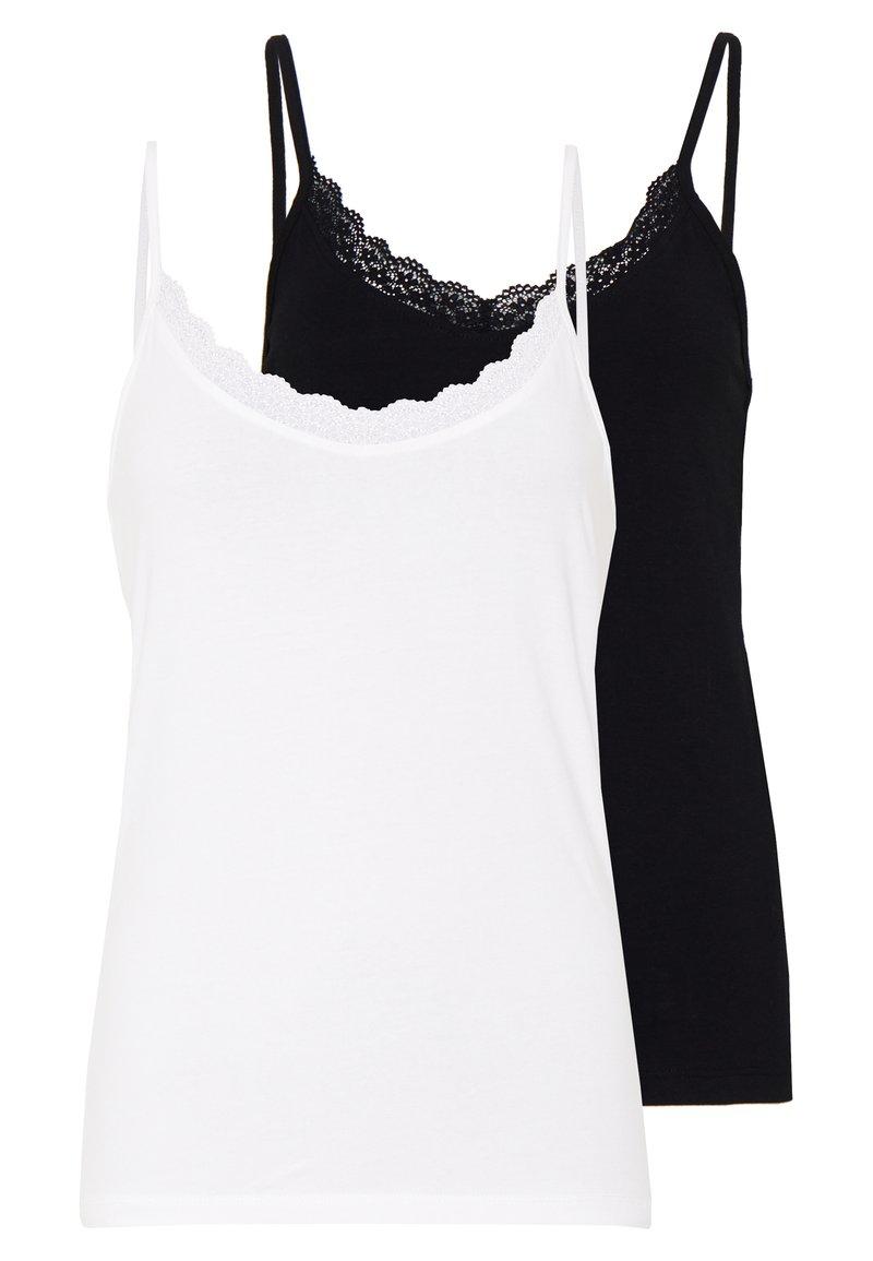 Even&Odd Tall - TRIM CAMI 2 PACK - Top - white/black