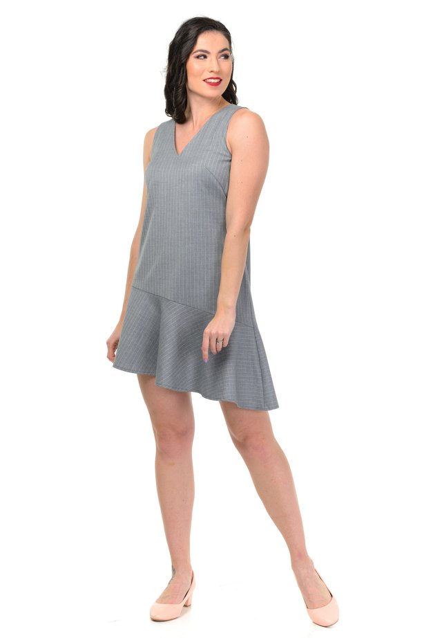DRESS SMART - Korte jurk - gray
