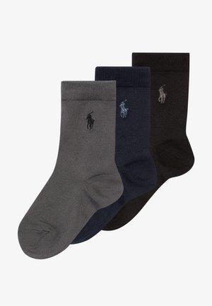 SUPERSOFT CREW 3 PACK - Ponožky - navy grey/black solid
