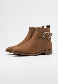 ONLY SHOES - ONLBOBBY LIFE BUCKLE BOOT  - Classic ankle boots - cognac - 2
