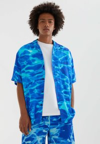 PULL&BEAR - Shirt - neon blue - 0