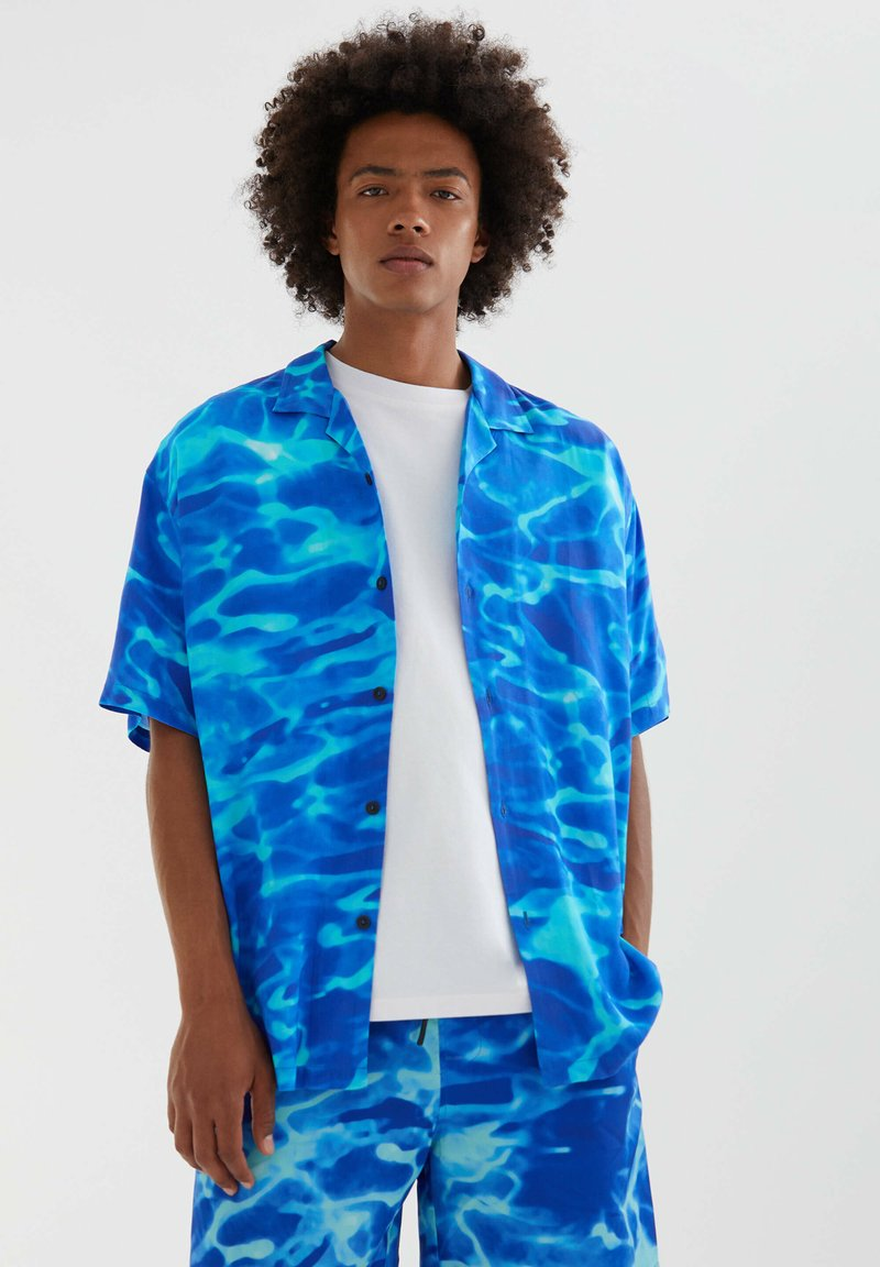 PULL&BEAR - Shirt - neon blue