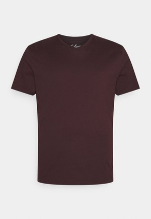 ESSENTIAL V NECK TEE - Basic T-shirt - burgundy