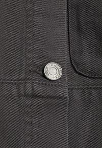 Missguided Petite - PETITEPANEL DETAIL ZIP DENIM SHIRT CO ORD - T-shirt à manches longues - black - 2