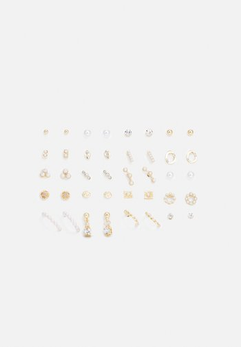 FAELIA 20 PACK - Earrings - clear/gold-coloured