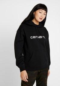 Carhartt WIP - HOODED - Hoodie - black / white - 0