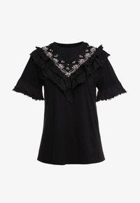 Needle & Thread - EMBELLISHED WREN RUFFLE TEE - T-Shirt print - ballet black - 4