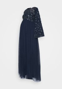 Maya Deluxe Maternity - FLORAL EMBELLISHED BELL SLEEVE MAXI - Occasion wear - navy - 4