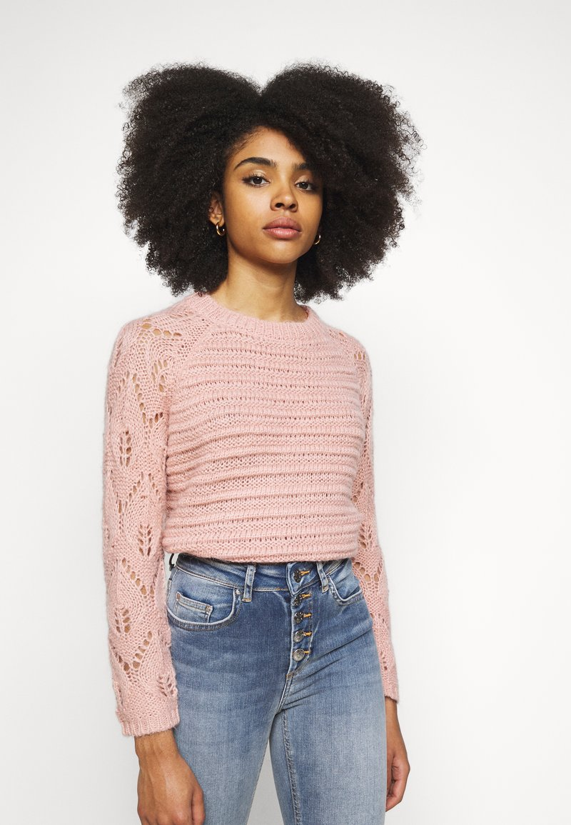 ONLY Petite - ONLVANESSA L/S PULLOVER CC PETIT KN - Maglione - misty rose/melange