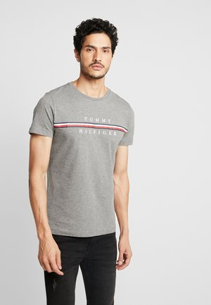 CORP SPLIT TEE - Print T-shirt - grey