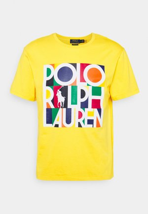 T-shirt imprimé - racing yellow