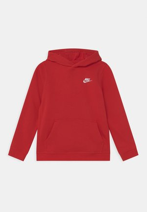 HOODIE CLUB - Felpa con cappuccio - university red/white