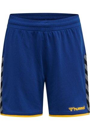 HMLAUTHENTIC  - Sports shorts - true blue/sports yellow