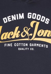 Jack & Jones - JJELOGO HOOD - Hættetrøjer - navy blazer - 5