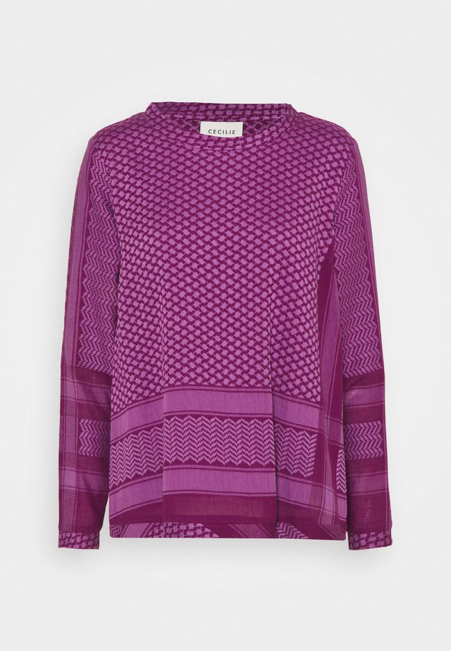 Langærmede T-shirts - plum/violet