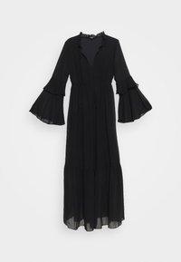 Missguided - TIE NECK TIERED FLOOR SWEEPER DRESS - Robe longue - black - 4
