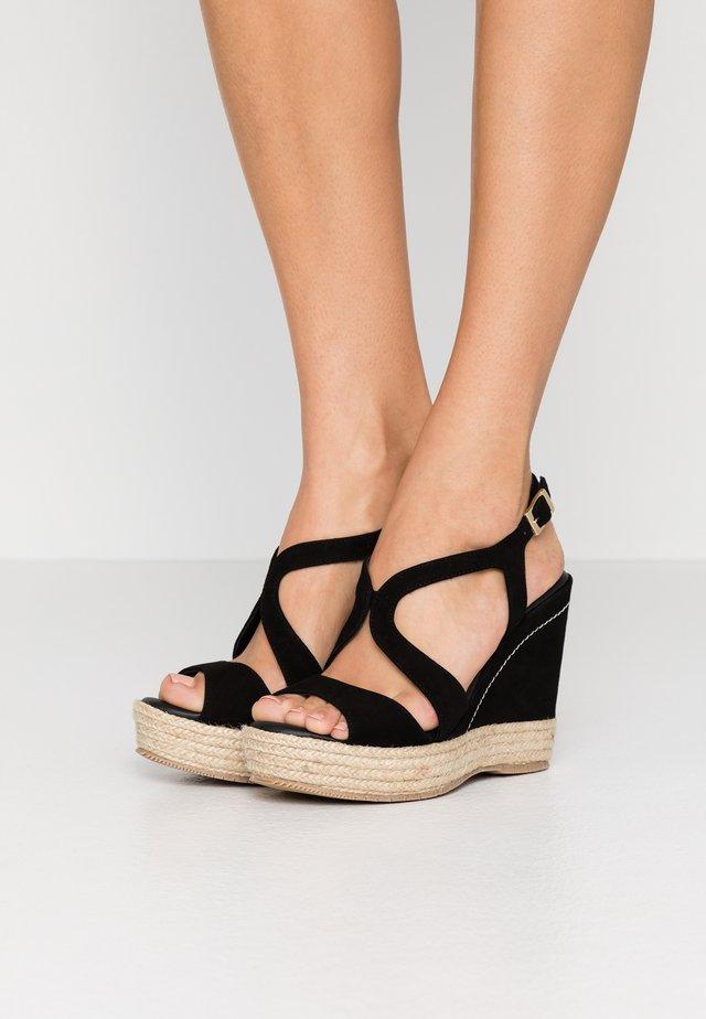 TELMA - Højhælede sandaletter / Højhælede sandaler - black