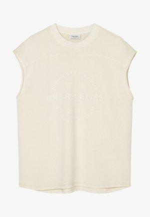 T-shirt print - unbleached