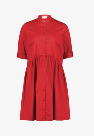 Shirt dress - high risk red