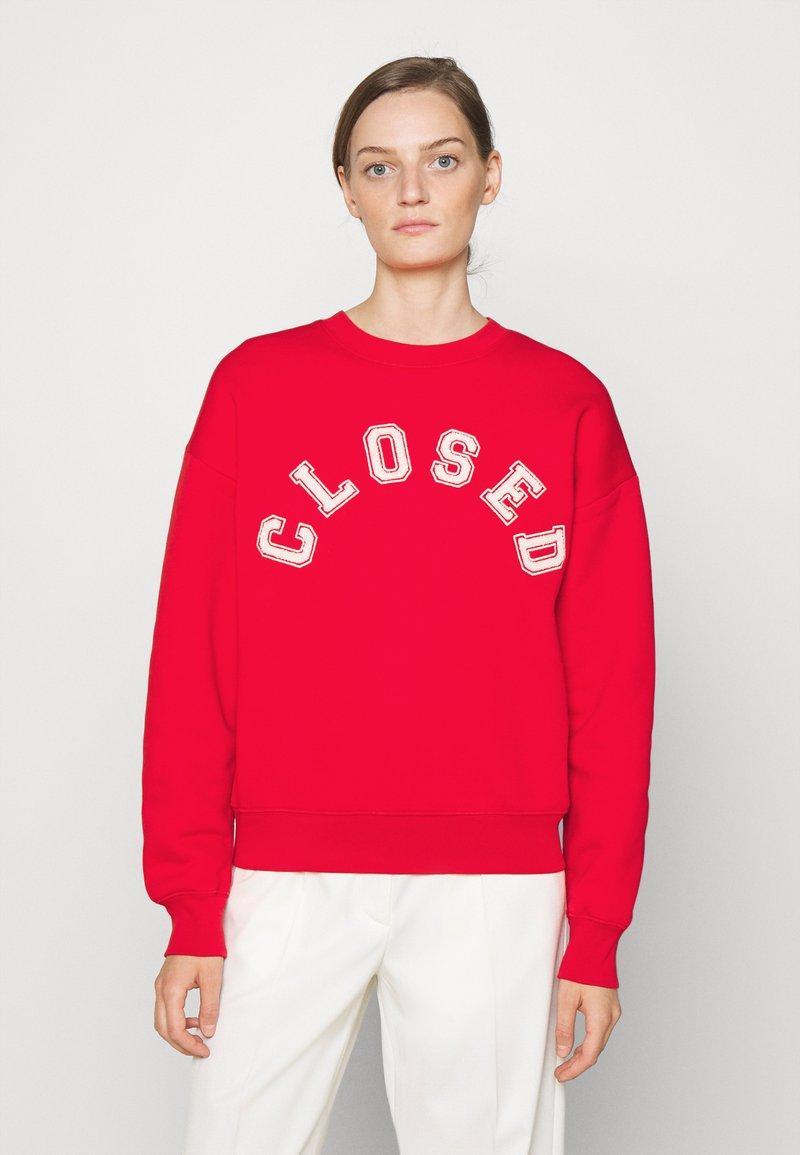 CLOSED - CREW NECK WITH LOGO - Felpa - red